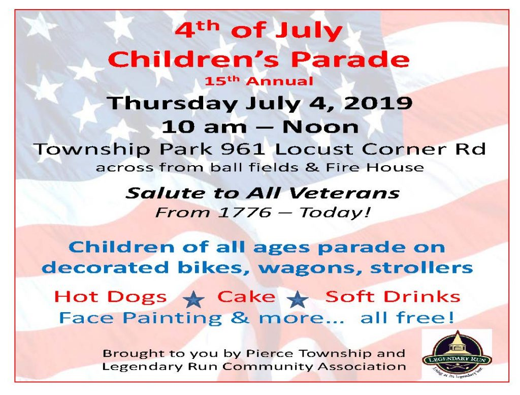 4th of July Children's Parade @ Pierce Township Park