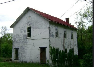 New Palestine two story schoolhouse located on Old Route 52